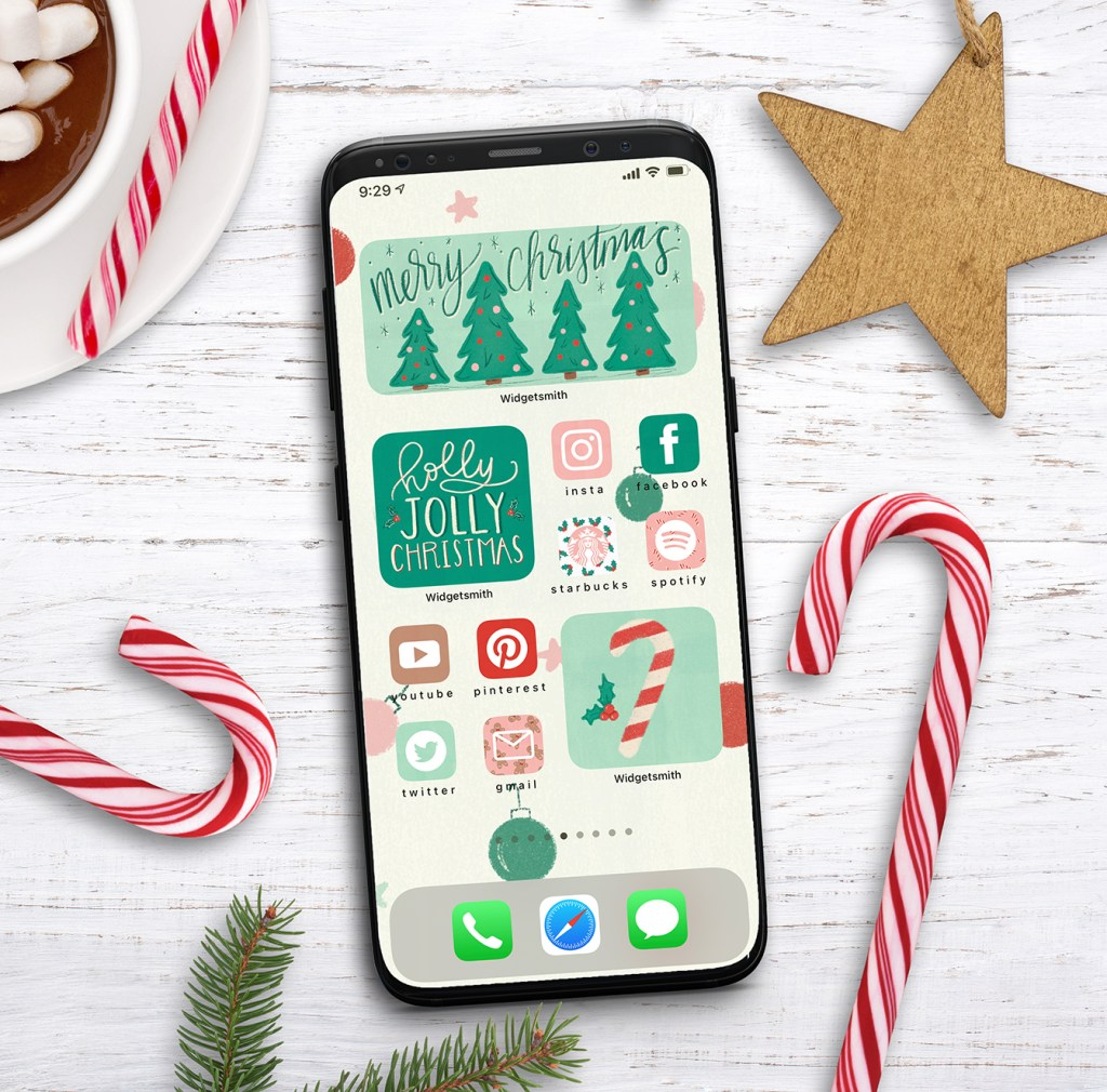 Free iPhone Christmas Aesthetic Widget and App Icons