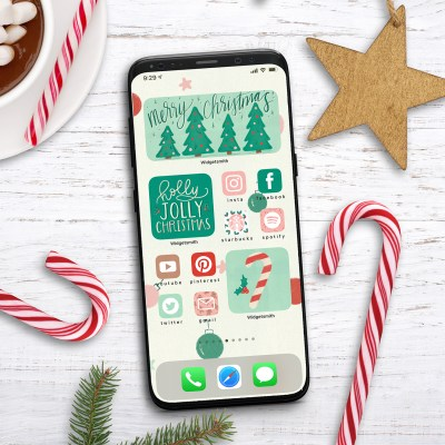 iPhone Christmas Aesthetic Widget and App Icons