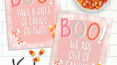 Free Halloween Trick or Treat Printable Signs by Pineapple Paper Co.