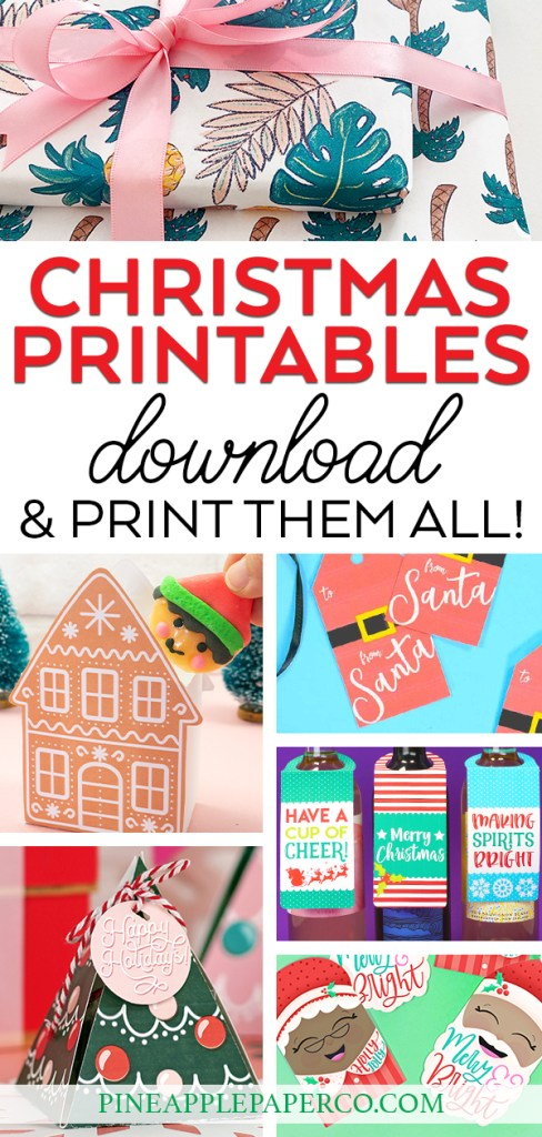 Free Christmas Printables for Gifts to Download at Pineapple Paper Co.