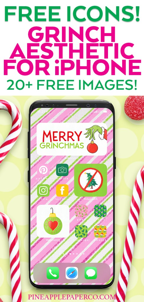 FREE Grinch App and Widget Icons for iPhone and iOS 14