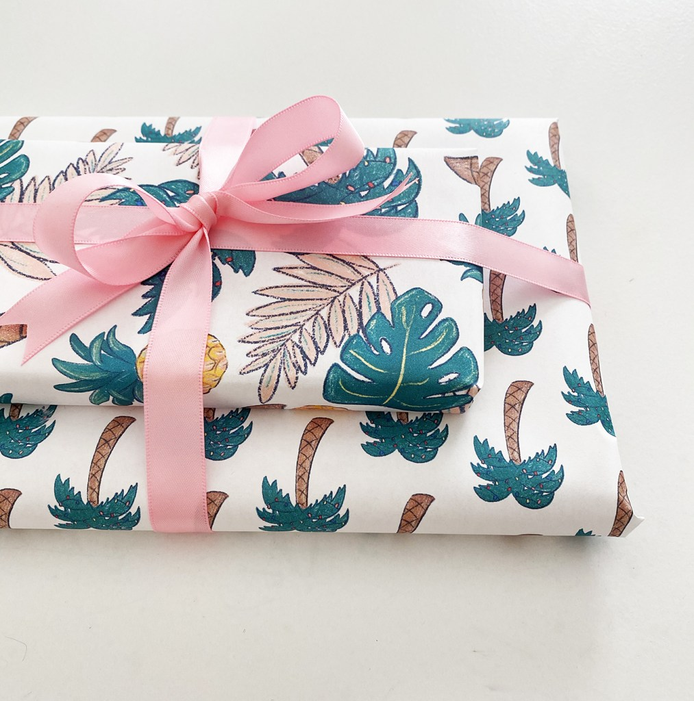 Tropical Printable Wrapping Paper Download