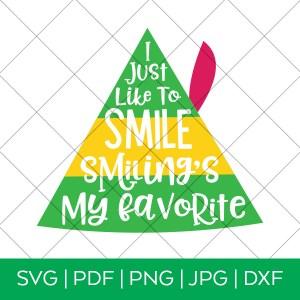 Smiling's My Favorite Elf Movie SVG