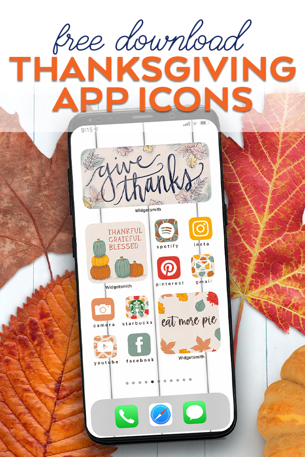 Download Free iPhone App Icons for Thanksgiving Aesthetic