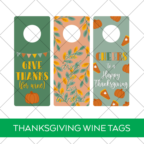 Free Printable Wine Tags for Thanksgiving Download