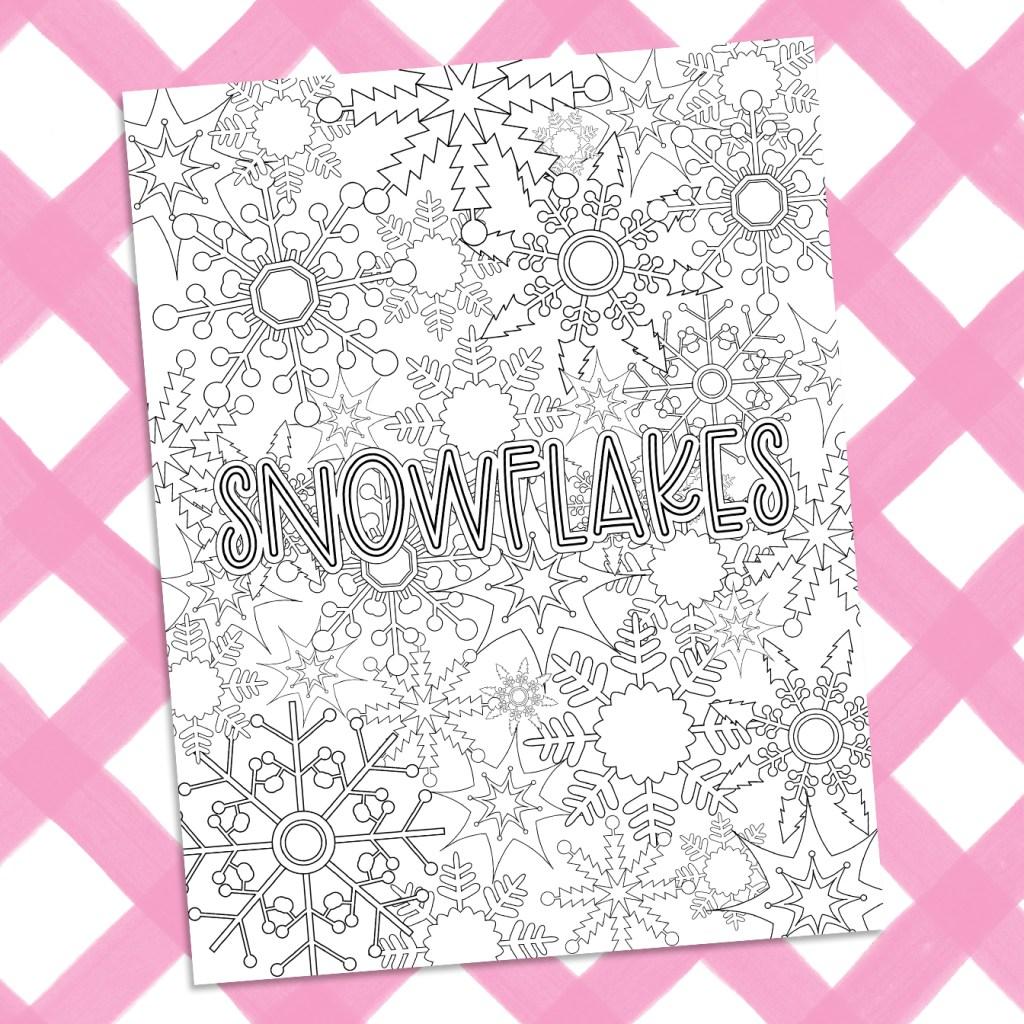 Free Snowflake Coloring Sheet for Printable Winter Fun