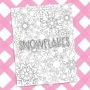 Free Snowflake Coloring Sheet Printable
