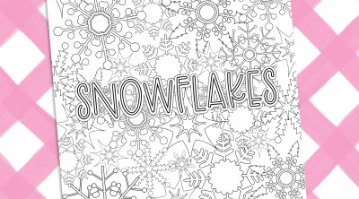 Free Snowflake Coloring Sheet for Printable Winter Fun