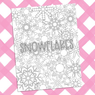Printable Snowflake Coloring Sheet