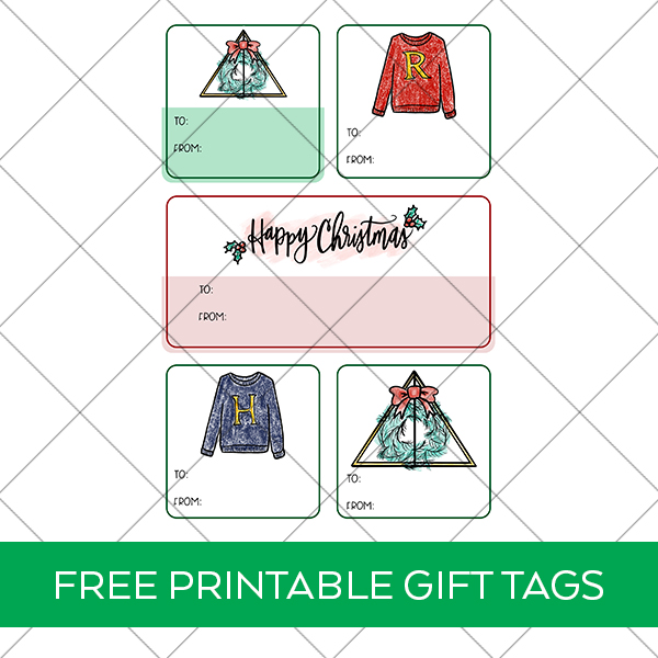 FREE Printable Christmas Harry Potter Gift Tags
