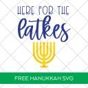 Here for the Latkes Hanukkah SVG