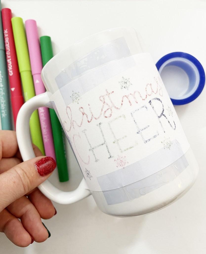 DIY Infusible Ink Sublimation Mug with Cricut Pens