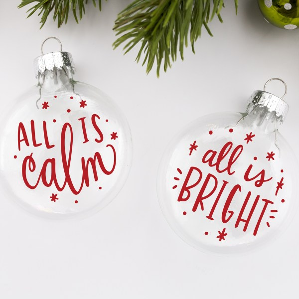 Hand Lettered Ornament SVG Files