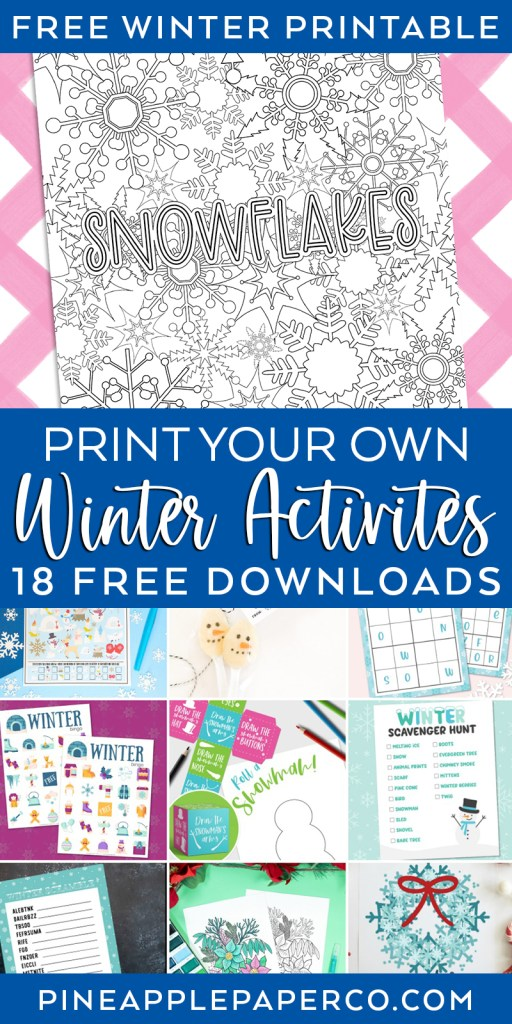 18 Free Winter Printables