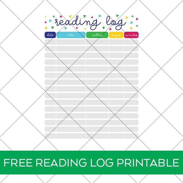 Free Reading Log Printable