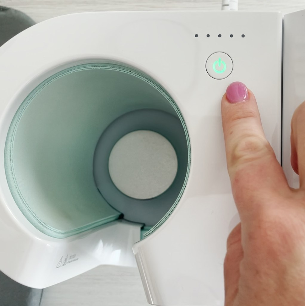 Preheating Cricut Mug Press