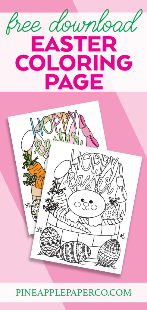 Free Hoppy Easter Printable Coloring Sheet