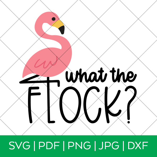 What the Flock Flamingo SVG with Grid