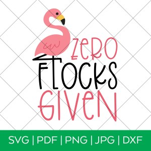 Zero Flocks Given Flamingo SVG with Grid