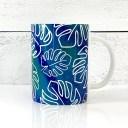 Monstera Mug Wrap SVG