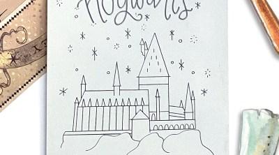 Free Cricut Engraving Tool Harry Potter Hogwarts Single Line SVG on Cricut Engraving Aluminum Sheet