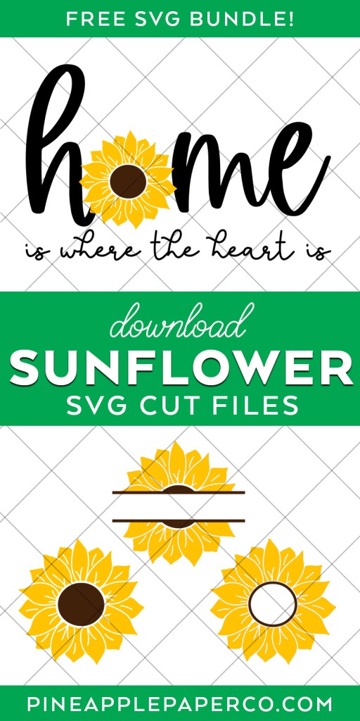 Free Sunflower SVG Cut Files at Pineapple Paper Co.