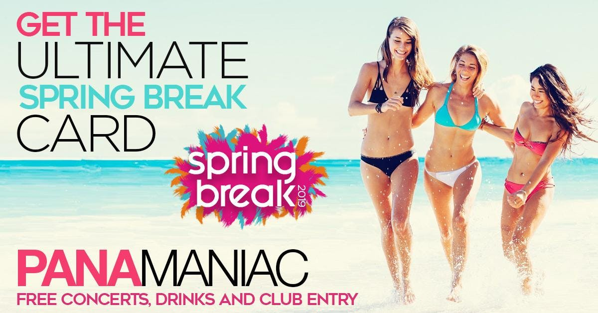 PANAMANIAC VIP CARD:  SPRING BREAK 2020 PANAMA CITY BEACH, FL