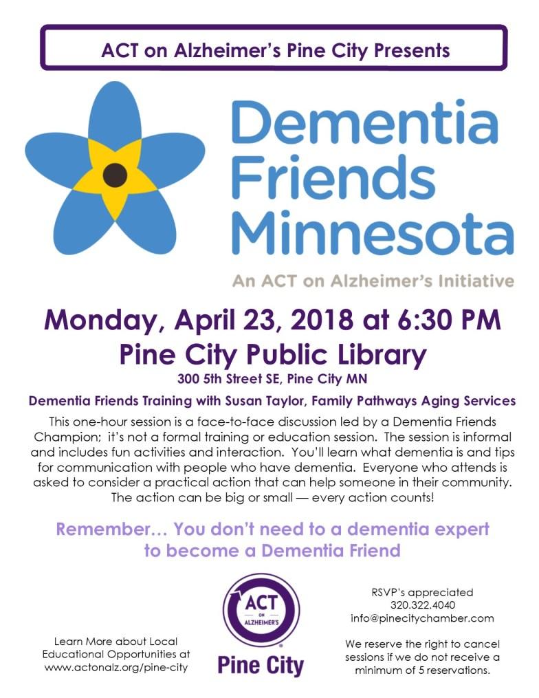 Dementia Friends Training Set for April 23rd