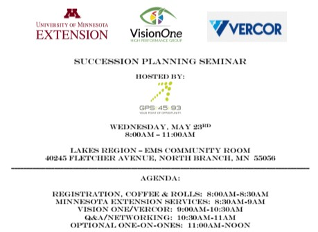 Workshop Flyer for May 23rd Succession Planning