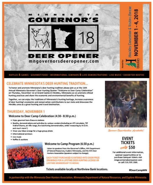 MN Governor's Deer Opener Flyer