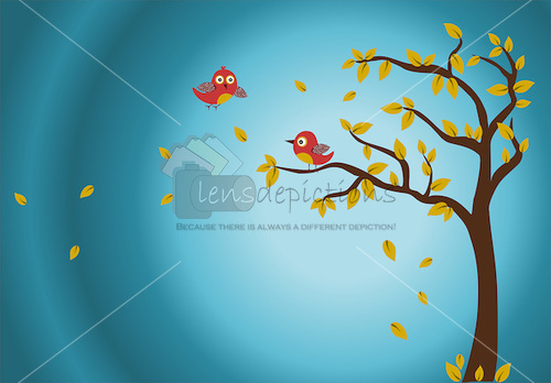 autumn-tree-birdies-background