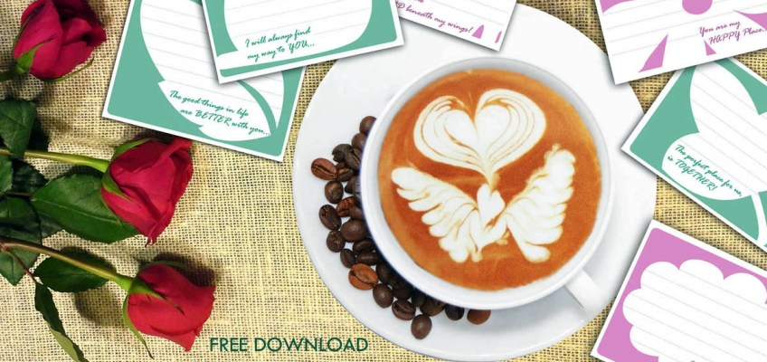Free Love notes printables download