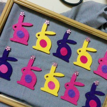 Bunnies In Procession – A Wall-art!