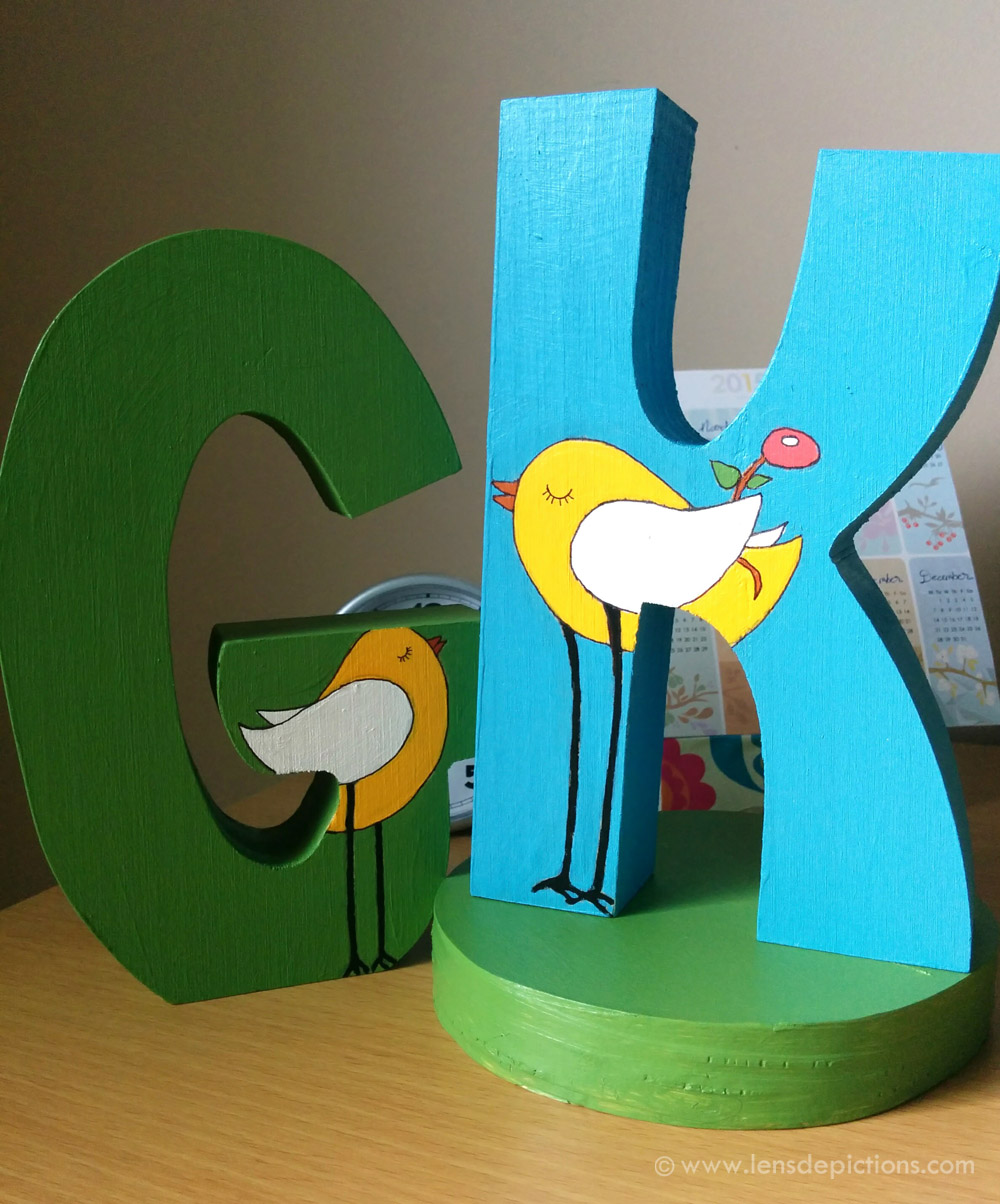"""""""The Proposal"""" – Wooden letters painting"""