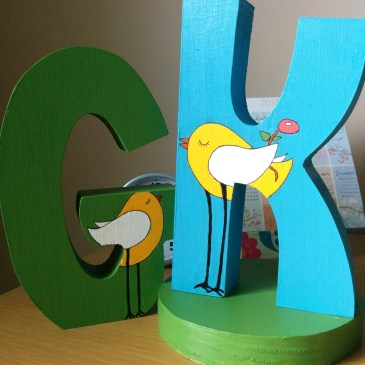 """The Proposal"" – Wooden letters painting"