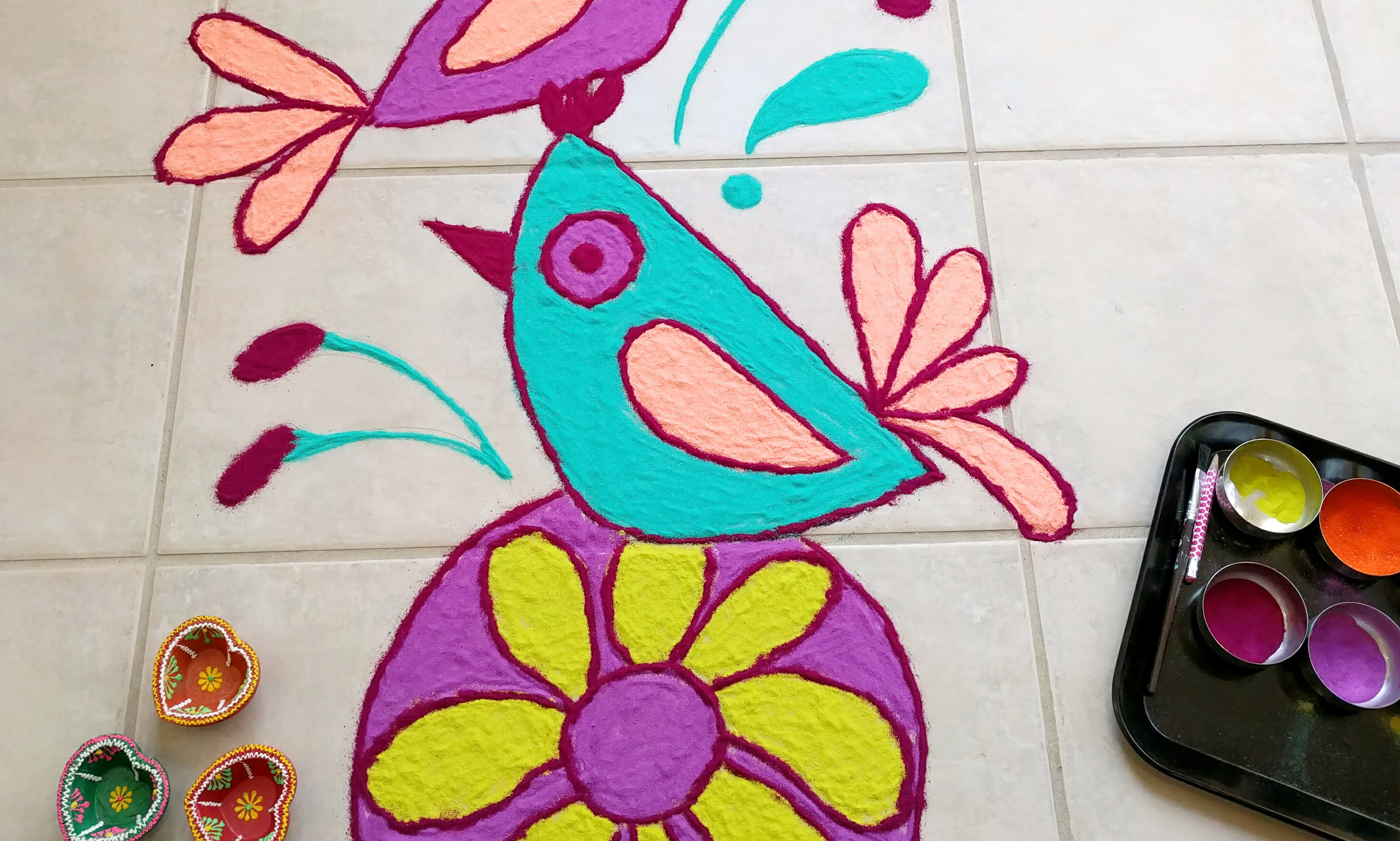 Folk Birds Rangoli