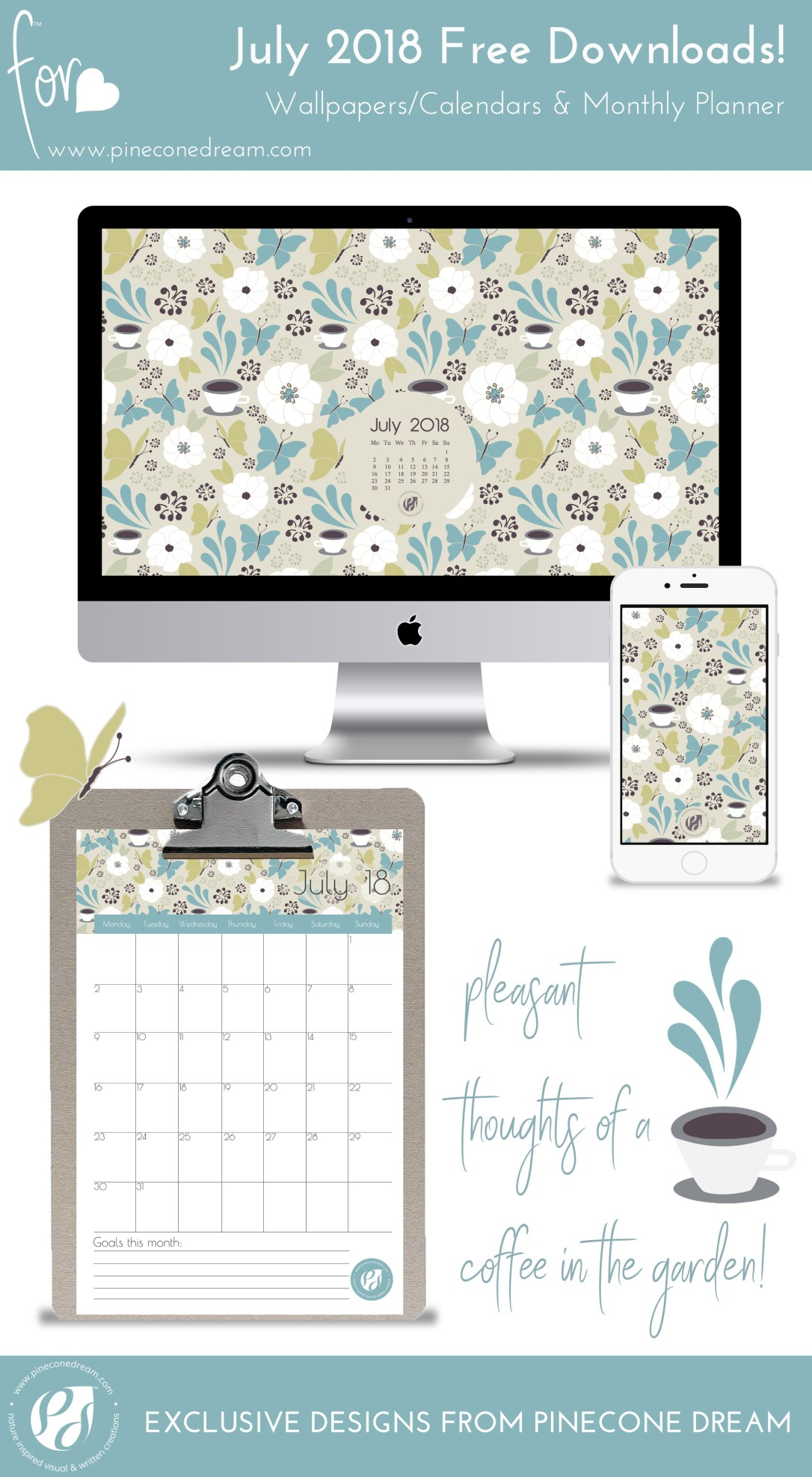desktop calendar wallpaper july 2018 free