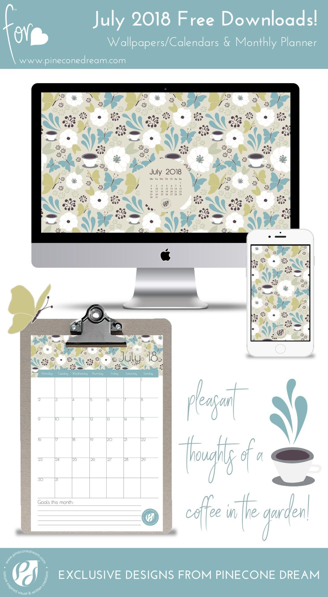 Calendar Planner Wallpaper : July free wallpapers calendars printable planner