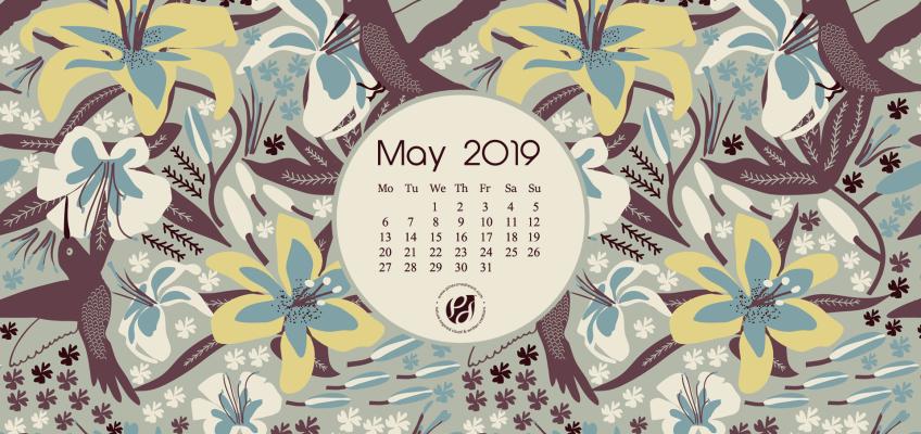 May 2019 calendar wallpaper free