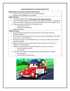 Collection and Distribution of Student Materials Page 1
