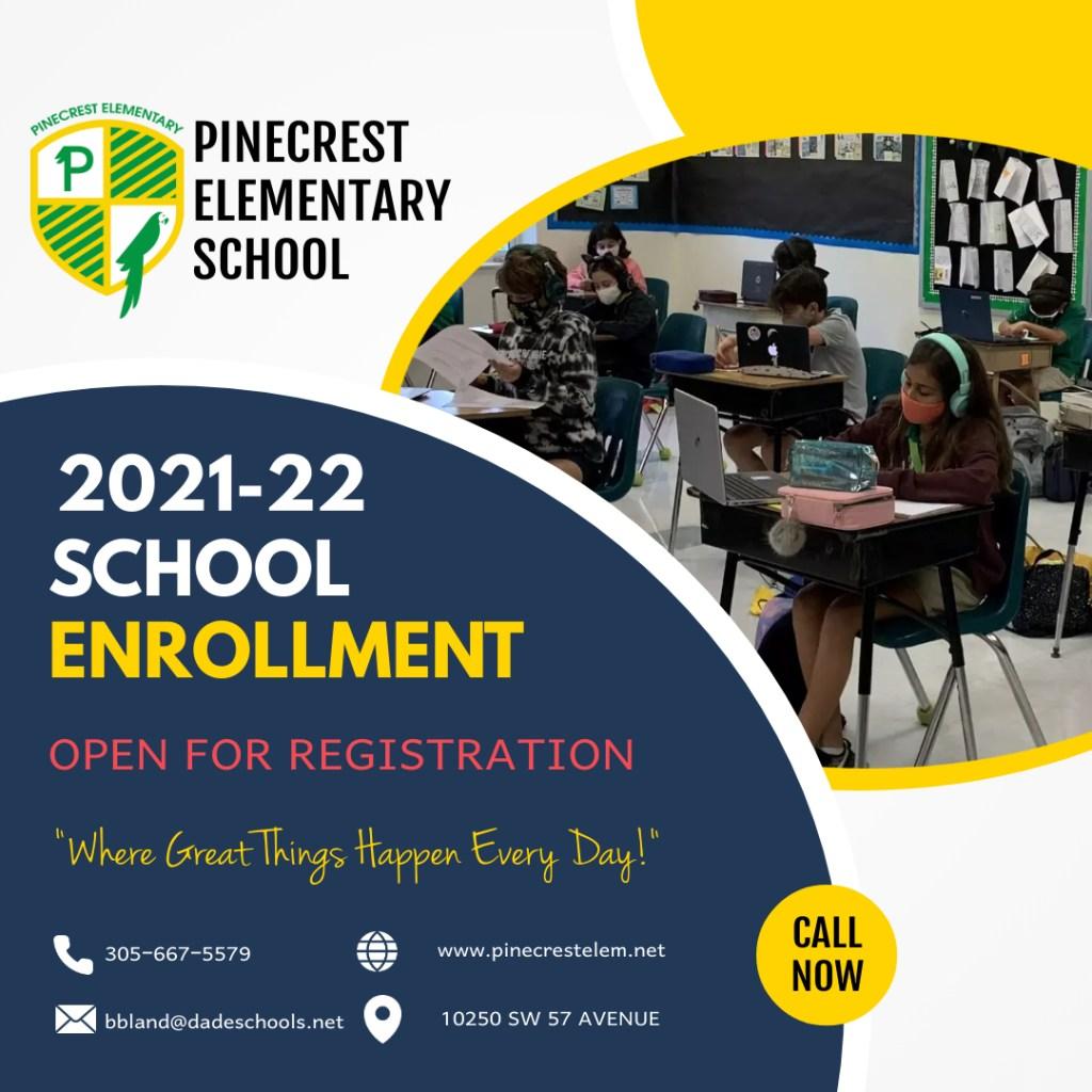 Mdcps Calendar 2022.2021 2022 School Year Registration Pinecrest Elementary