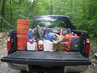 Hauling gear out