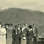 PMSS workers (from left): Katherine Pettit ; Ethel de Long ; Wilmer Stone ; ? ; Ruth Hench ; Dr. Grace Huse ; (?) ; Evelyn Wells ; (?) Marguerite Butler ; Luigi Zande. X_099_workers_2489c_mod.jpg