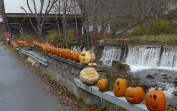 A Halloween Story:  Those Pumpkins on Patchin Mills Bridge