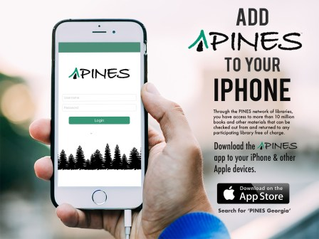 PINES App for iOS.