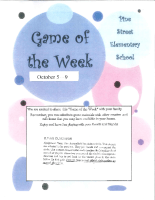 game of the week Oct. 5-9