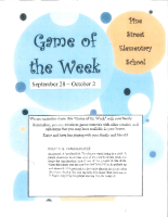 game of the week Sept. 28 – Oct. 2
