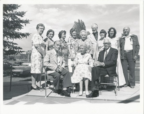 Attendees at a library tea, July 7, 1976.