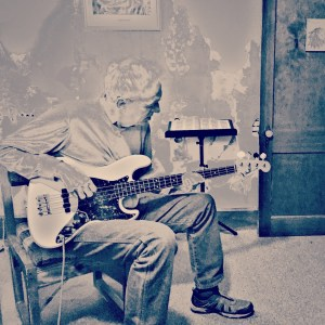 Rick is laying down Blues Bass tracks.