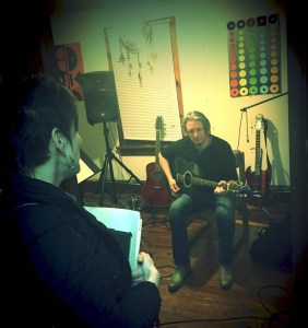 Patrick Turner recording original song